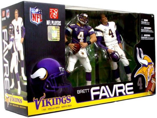 McFarlane Toys NFL Minnesota Vikings Sports Picks 2-Packs Brett Favre Exclusive Action Figure 2-Pack [Purple & White Jerseys]