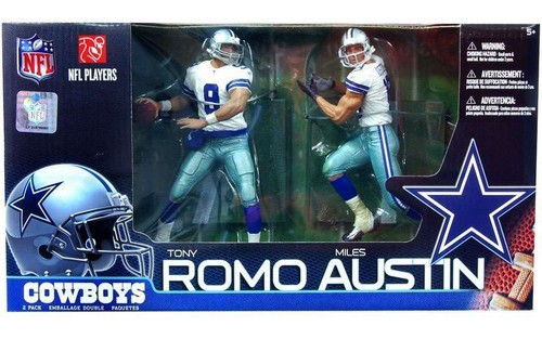 McFarlane Toys NFL Dallas Cowboys Sports Picks 2-Packs Miles Austin & Tony Romo Action Figure 2-Pack