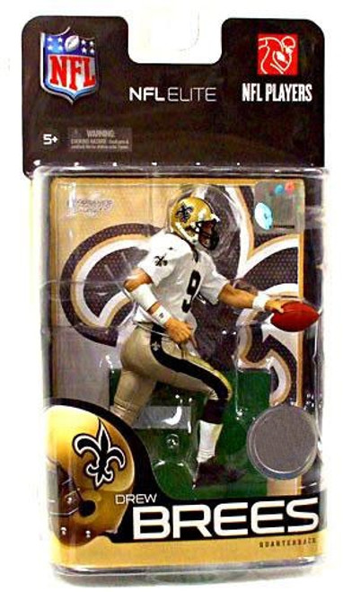 McFarlane Toys NFL New Orleans Saints Sports Picks Elite Series 1 Drew Brees Exclusive Action Figure [White Jersey]