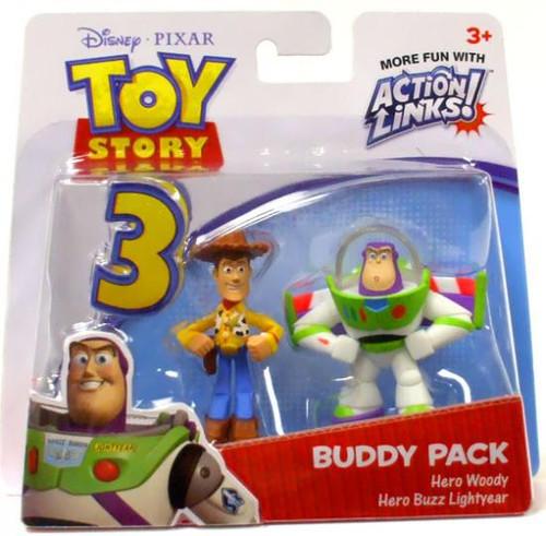 Toy Story 3 Action Links Buddy Pack Hero Woody & Hero Buzz Lightyear Mini Figure 2-Pack