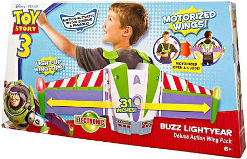 Toy Story 3 Buzz Lightyear Deluxe Action Wing Pack Roleplay Toy