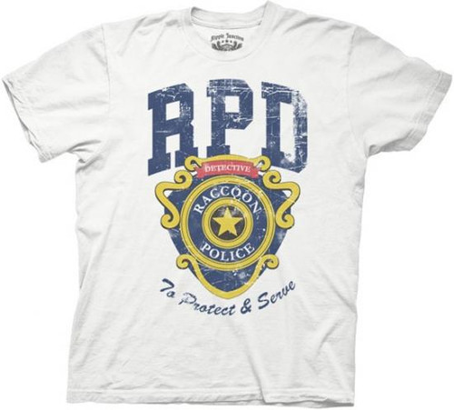 Resident Evil RPD To Protect And Serve T-Shirt [Adult XL]