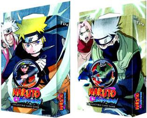 Naruto Shippuden Card Game Set of Both Will of Fire Theme Decks
