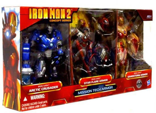 Iron Man 2 Concept Series Mission Tech Armor Exclusive Action Figure 3-Pack