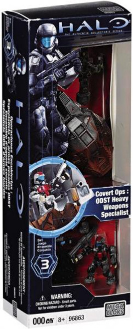 Mega Bloks Halo The Authentic Collector's Series Covert Ops: ODST Heavy Weapons Specialist Set #96863