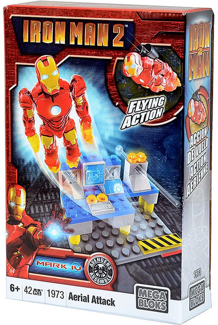Mega Bloks Iron Man 2 Mark IV Aerial Attack Set #1973