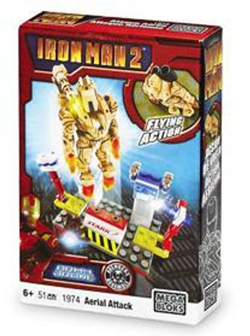Mega Bloks Iron Man 2 Aerial Attack Set #1974