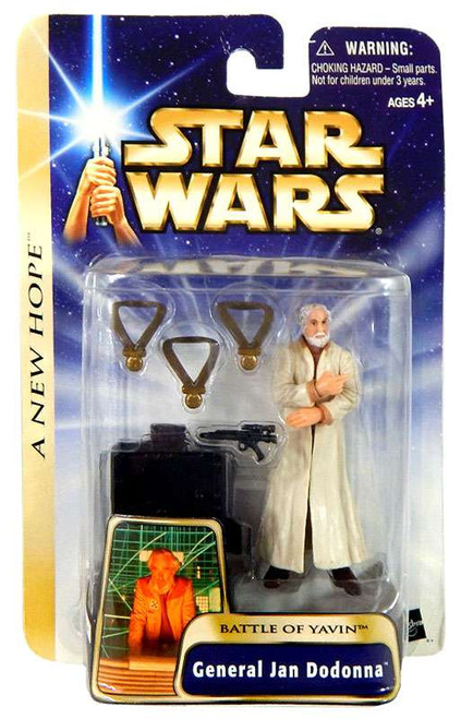 Star Wars A New Hope Basic 2004 General Jan Dodonna Action Figure #12 [Battle of Yavin]