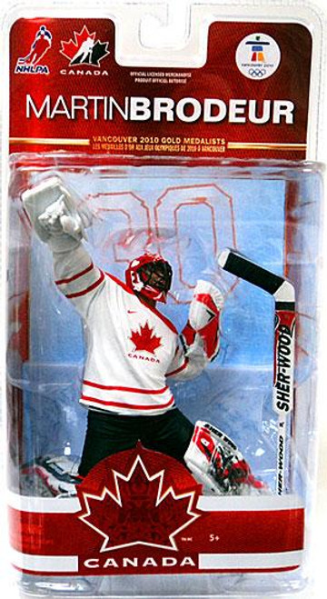 McFarlane Toys NHL New Jersey Devils Sports Picks Team Canada Series 2 Martin Brodeur Action Figure [White Jersey]