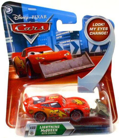 Disney Cars Lenticular Eyes Series 2 Lightning McQueen with Shovel Diecast Car