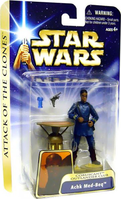 Star Wars Attack of the Clones Basic 2004 Achk Med-Beq Action Figure #37 [Coruscant Outlander Club]