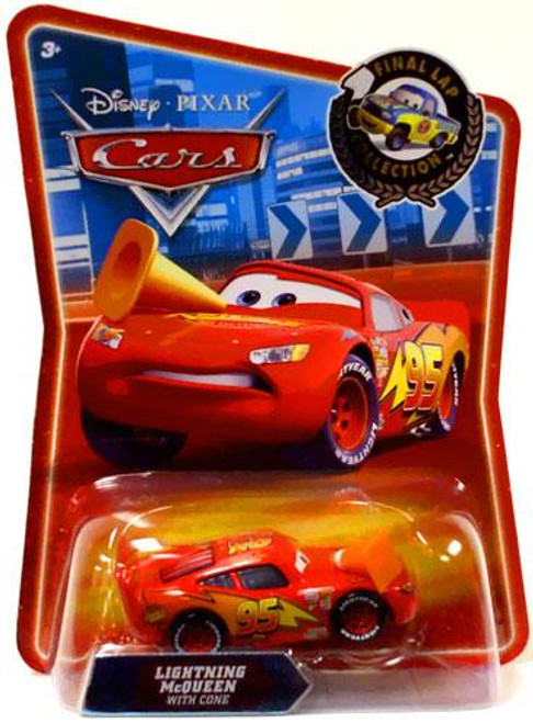 Disney Cars Final Lap Collection Lightning McQueen With Cone Exclusive Diecast Car