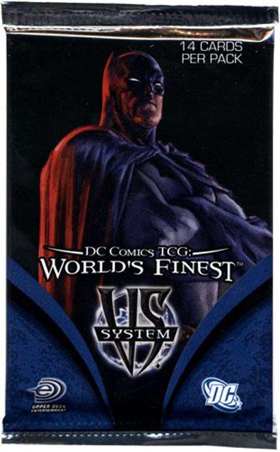 DC VS System Trading Card Game World's Finest Booster Pack