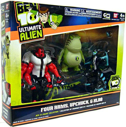 Ben 10 Ultimate Alien Four Arms, Upchuck & XLR8 Action Figure 3-Pack