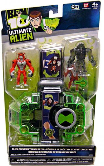 Ben 10 Ultimate Alien Alien Creation Transporter Action Figure Set