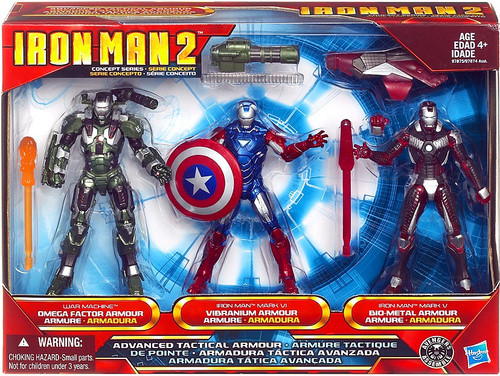 Iron Man 2 Concept Series Advanced Tactical Armor Exclusive Action Figure Set