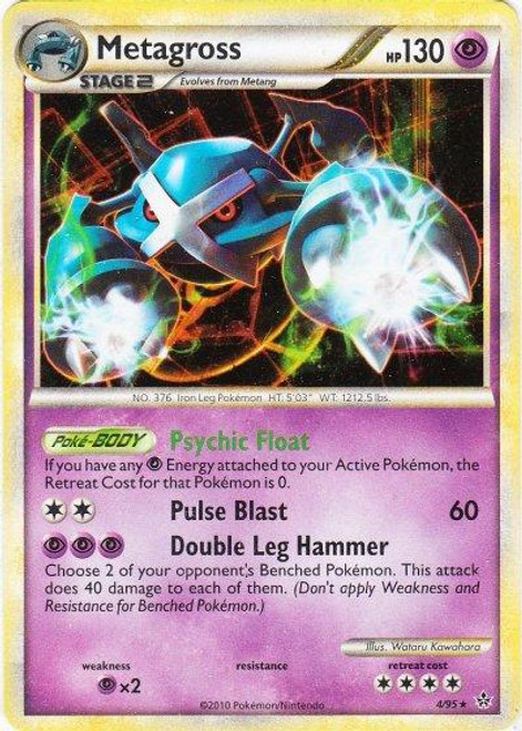 Pokemon HeartGold & Soulsilver Unleashed Rare Holo Metagross #4