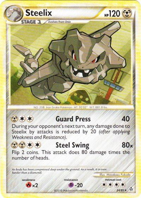 Pokemon HeartGold & Soulsilver Unleashed Rare Steelix #24