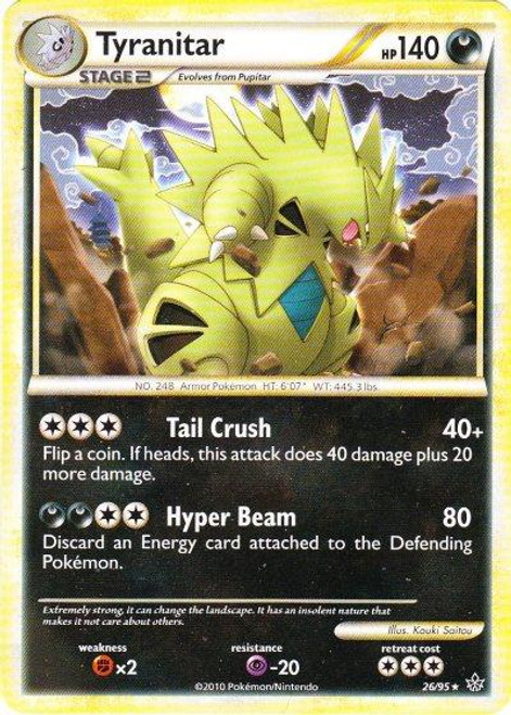 Pokemon HeartGold & Soulsilver Unleashed Rare Tyranitar #26