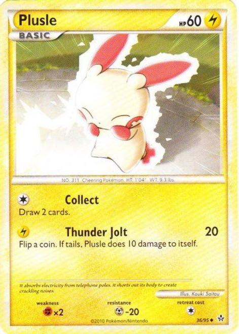 Pokemon HeartGold & Soulsilver Unleashed Uncommon Plusle #36
