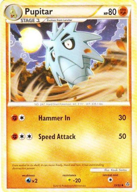 Pokemon HeartGold & Soulsilver Unleashed Uncommon Pupitar #39