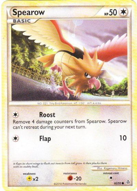 Pokemon HeartGold & Soulsilver Unleashed Common Spearow #62