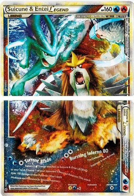 Pokemon HeartGold & Soulsilver Unleashed Ultra Rare Holo LEGEND Suicune & Entei LEGEND [Set of Both Cards] #94 & 95