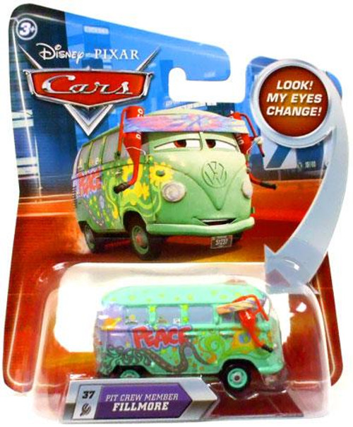 Disney Cars Lenticular Eyes Series 2 Pit Crew Member Fillmore Diecast Car
