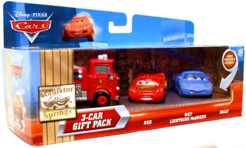 Disney Cars Multi-Packs Radiator Springs 3-Car Gift Pack Diecast Car Set [Fire Engine]