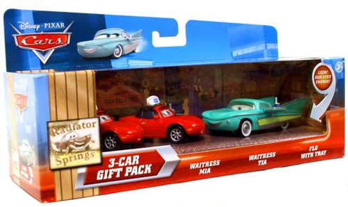 Disney Cars Multi-Packs Radiator Springs 3-Car Gift Pack Diecast Car Set [Flo's Cafe]