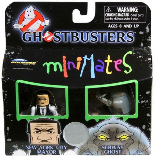 Ghostbusters Minimates New York City Mayor & Subway Ghost Exclusive Minifigure 2-Pack