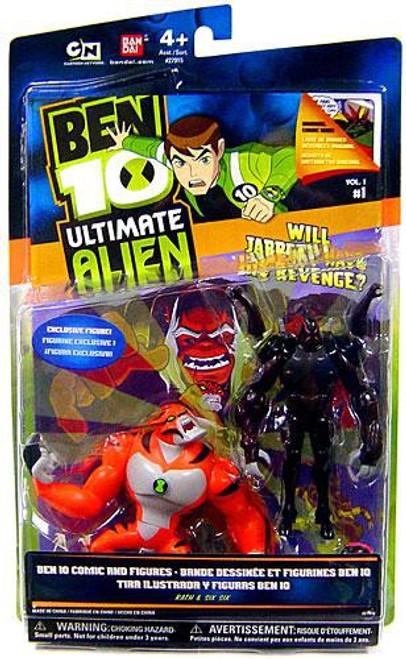 Ben 10 Ultimate Alien Comic Book Series Rath & Six Six Exclusive Action Figure 2-Pack