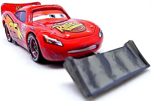 Disney Cars Loose Lenticular Lightning McQueen with Shovel Diecast Car [Loose]
