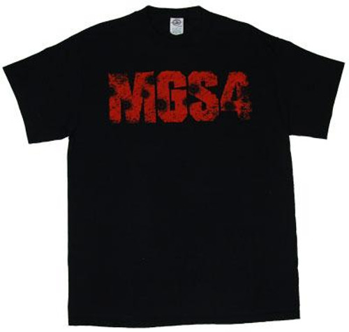 Metal Gear Solid 4 Logo with Bullet Holes T-Shirt [Adult Small]