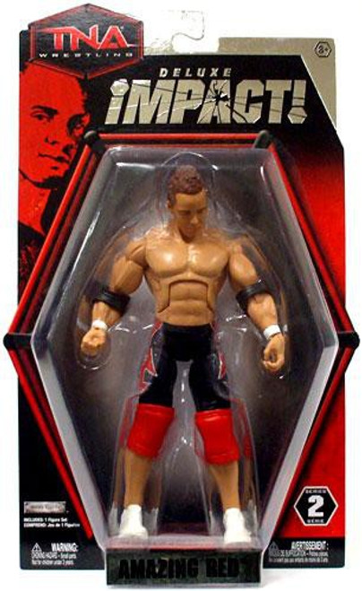 TNA Wrestling Deluxe Impact Series 2 Amazing Red Action Figure