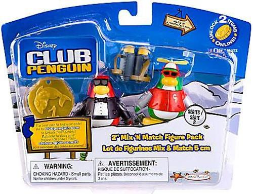 Club Penguin Mix 'N Match Series 8 Secret Agent & Rookie Mini Figure Set