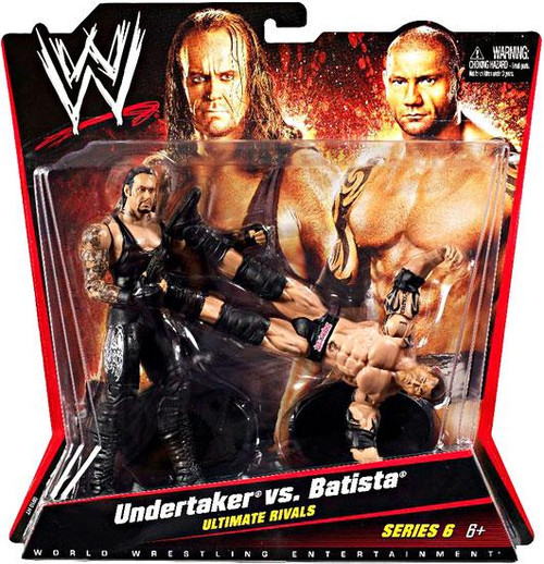 WWE Wrestling Series 6 Undertaker vs. Batista Action Figure 2-Pack