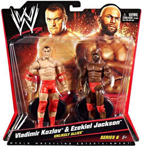 WWE Wrestling Series 6 Vladimir Kozlov & Ezekiel Jackson Action Figure 2-Pack