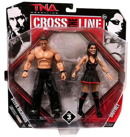 TNA Wrestling Cross the Line Series 3 Dr. Stevie Richards & Daffney Action Figure 2-Pack