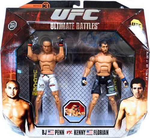 UFC Ultimate Battles Series 3 BJ Penn vs. Kenny Florian Action Figure 2-Pack [UFC 101]