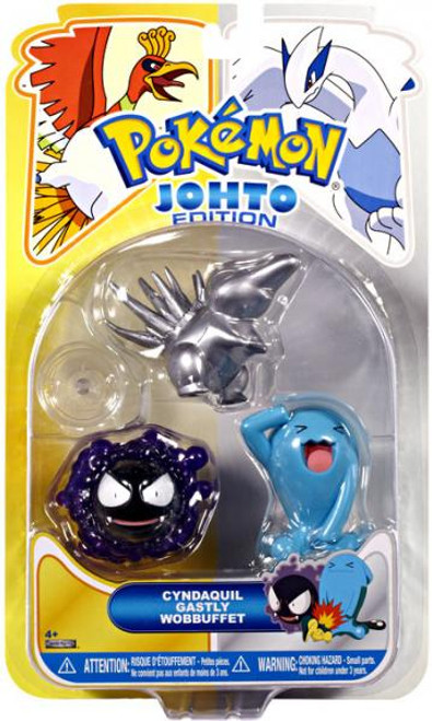 Pokemon Johto Edition Series 17 Silver Cyndaquil, Ghastly & Wobbuffet Figure 3-Pack