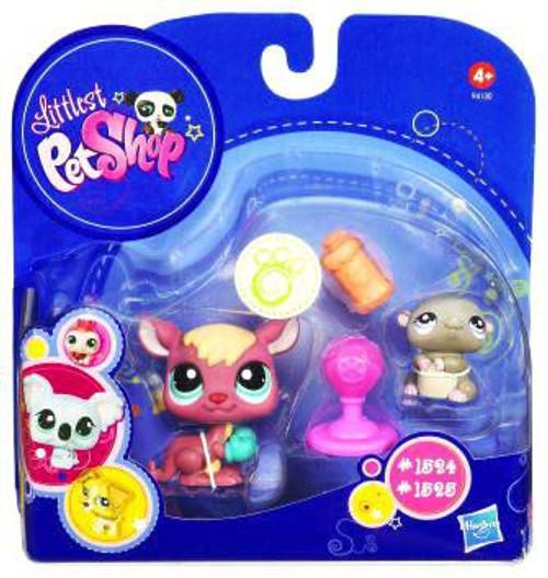 Littlest Pet Shop 2010 Assortment B Series 4 Kangaroo & Hamster Figure 2-Pack #1524, 1525