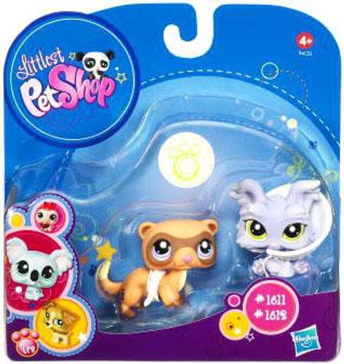 Littlest Pet Shop 2010 Assortment B Series 5 Yorkie & Ferret Figure 2-Pack #1611, 1612