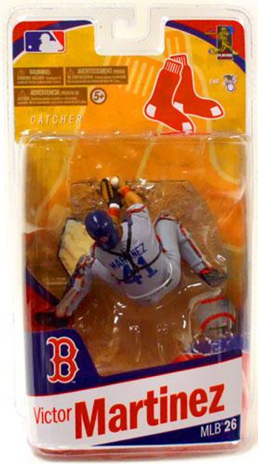 McFarlane Toys MLB Sports Picks Series 26 Victor Martinez (Boston Red Sox) Action Figure [Gray Jersey Variant]