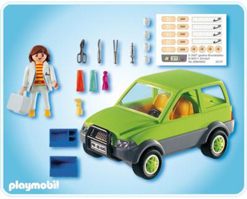 Playmobil Zoo Animal Clinic Vet with Car Set #4345