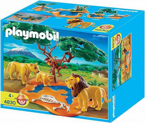 Playmobil Zoo African Wildlife Lion Pride with Monkeys Set #4830