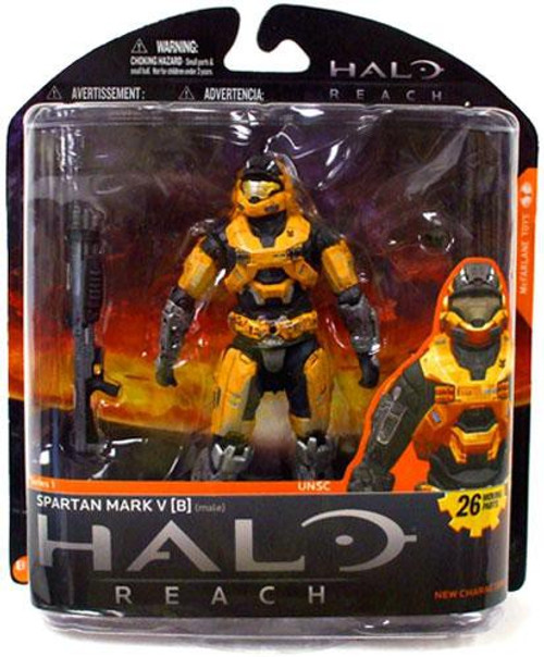 McFarlane Toys Halo Reach Series 1 Spartan Mark V [B] Exclusive Action Figure [Gold]