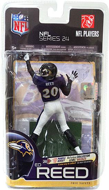 McFarlane Toys NFL Baltimore Ravens Sports Picks Series 24 Ed Reed Action Figure [Purple Jersey]