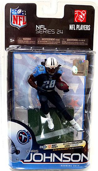 McFarlane Toys NFL Tennessee Titans Sports Picks Series 24 Chris Johnson Action Figure [Dark Blue Jersey]
