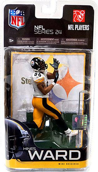 McFarlane Toys NFL Pittsburgh Steelers Sports Picks Series 24 Hines Ward Action Figure [White Jersey Variant]